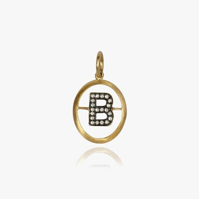 18ct Gold Diamond Initial B Pendant
