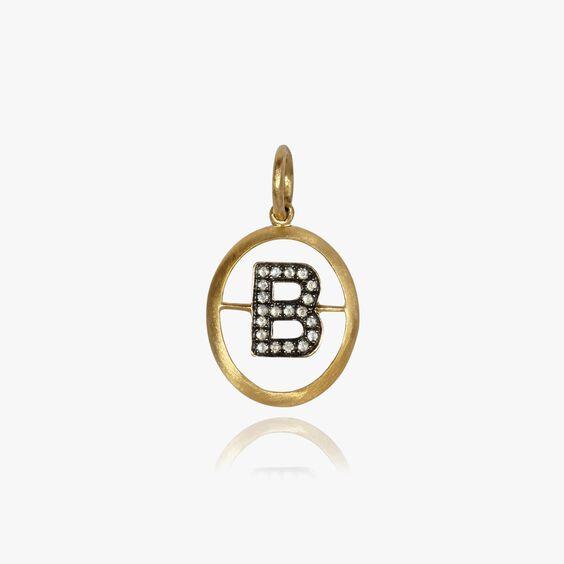 18ct Gold Diamond Initial B Pendant | Annoushka jewelley