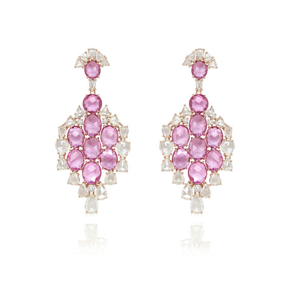 Sutra Pink Sapphire Earrings | Annoushka jewelley