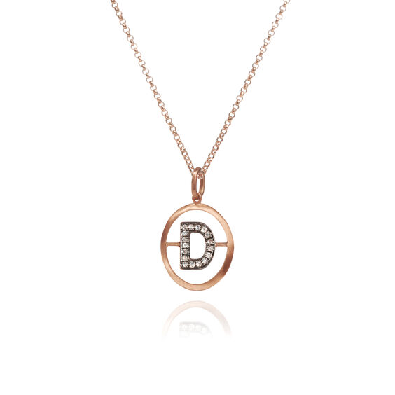 18ct Rose Gold Initial D Necklace | Annoushka jewelley