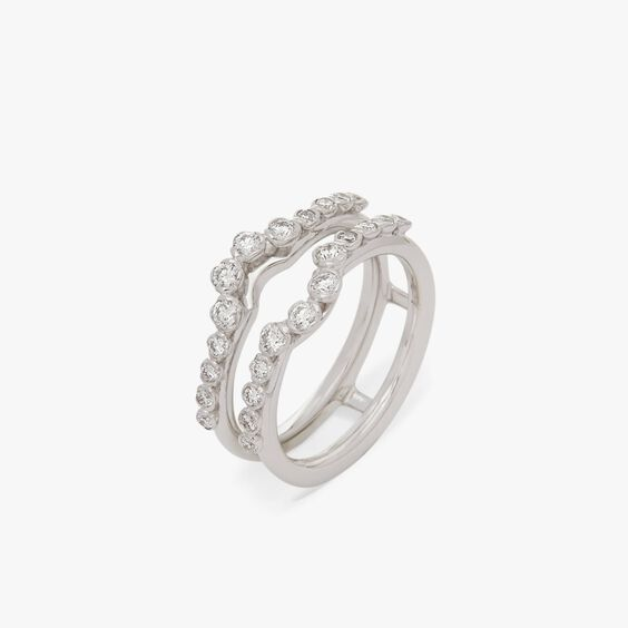 Marguerite 18ct White Gold Jacket Ring | Annoushka jewelley