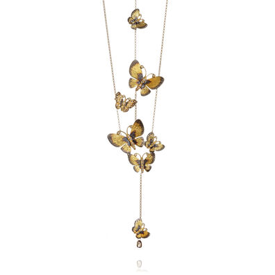Butterflies 18ct Gold Diamond Necklace
