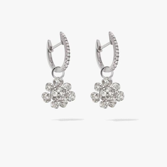 Marguerite 18ct White Gold Diamond Earrings | Annoushka jewelley