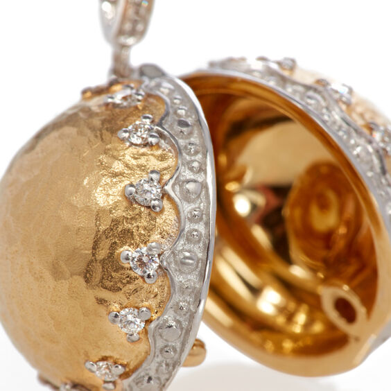 Mythology 18ct Gold Orb Locket Charm | Annoushka jewelley