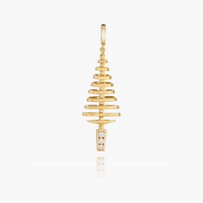 Garden Party 18ct Gold Diamond Small Pendant