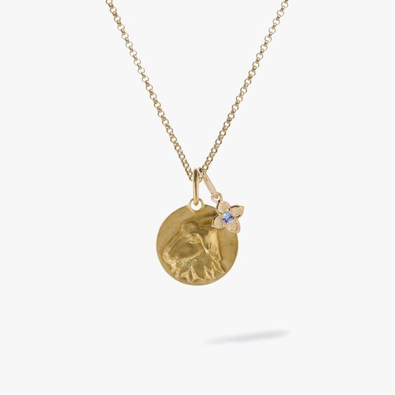 Gold Capricorn & Tanzanite December Birthstone Necklace | Annoushka jewelley