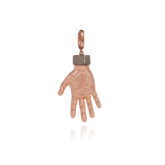 "18ct Rose Gold Ruby ""Red Right Hand"" Charm"
