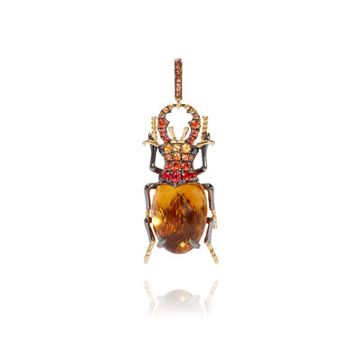 Mythology 18ct Gold Citrine Beetle Charm