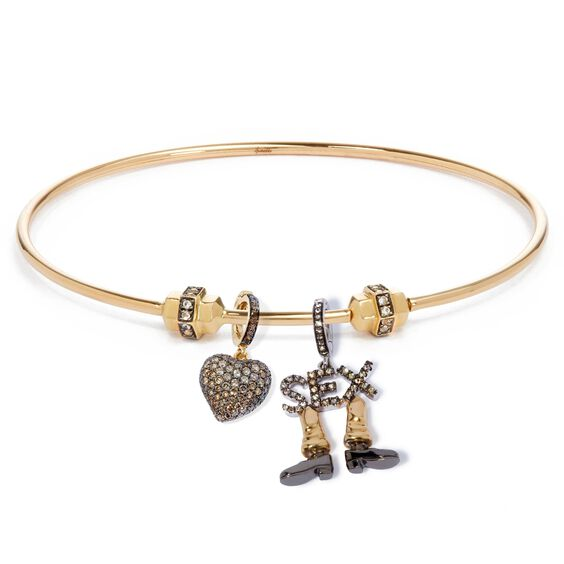 Mythology 18ct Gold Valentines Charm Bangle | Annoushka jewelley