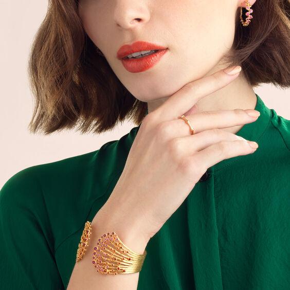 Hidden Reef 18ct Gold Sapphire Cuff