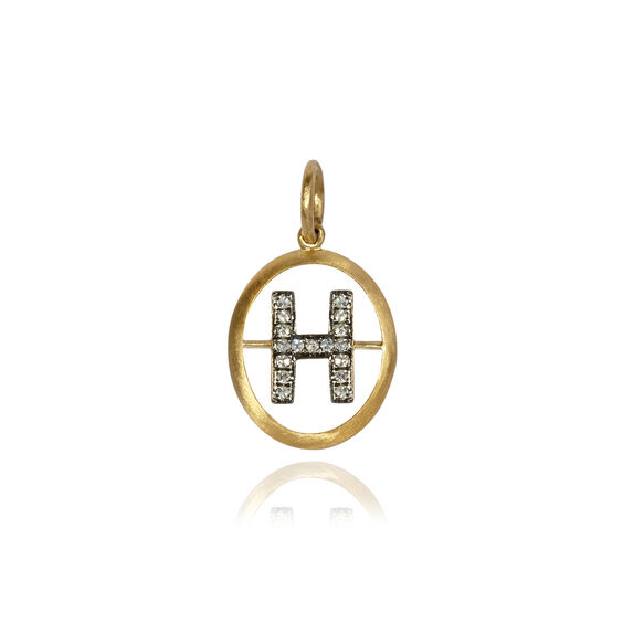 18ct Gold Diamond Initial H Pendant | Annoushka jewelley