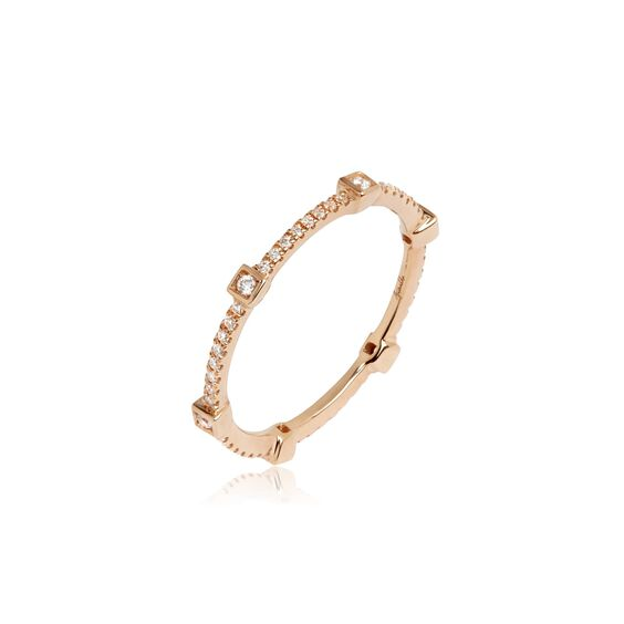 Pavilion 18ct Rose Gold Diamond Eternity Ring | Annoushka jewelley