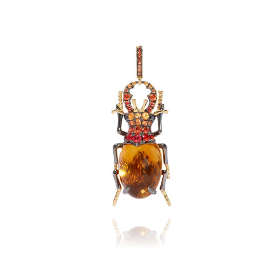 Mythology 18ct Gold Citrine Beetle Charm | Annoushka jewelley