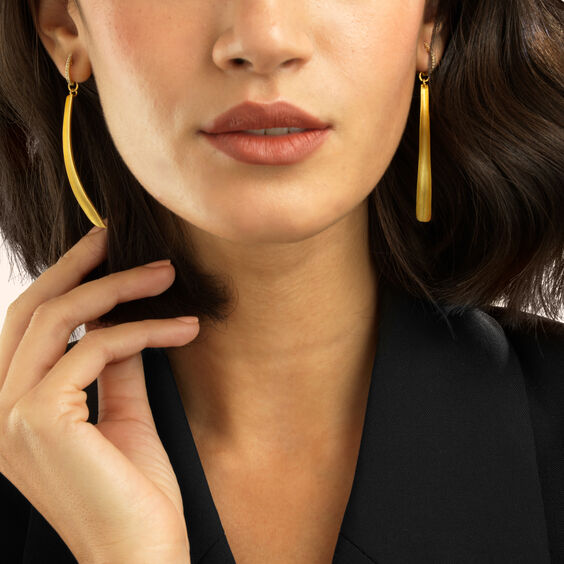 18ct Gold Palm Earring Drops | Annoushka jewelley