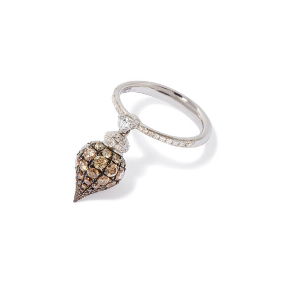 Touch Wood 18ct White Gold Diamond Ring | Annoushka jewelley