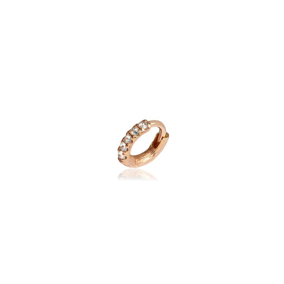 Dusty Diamonds 18ct Rose Gold Diamond 7.5mm Hoop | Annoushka jewelley
