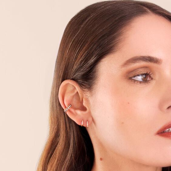 Dusty Diamonds 18ct Rose Gold Diamond Ear Cuff   Annoushka jewelley