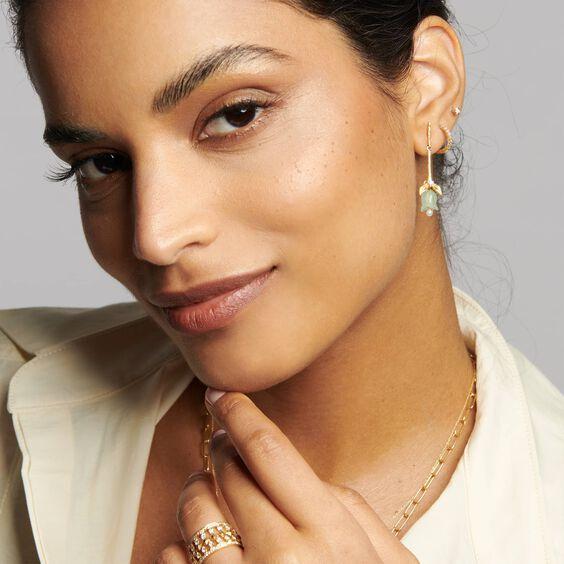 18ct Gold Annoushka Tulip Diamond Earrings