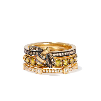 Bee Diamond Ring Stack in 18ct Gold