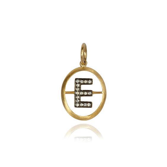 18ct Gold Diamond Initial E Pendant