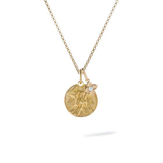 Gold Gemini & Pearl June Birthstone Necklace | Annoushka jewelley