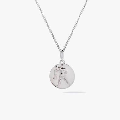 Mythology 18ct White Gold Aquarius Necklace