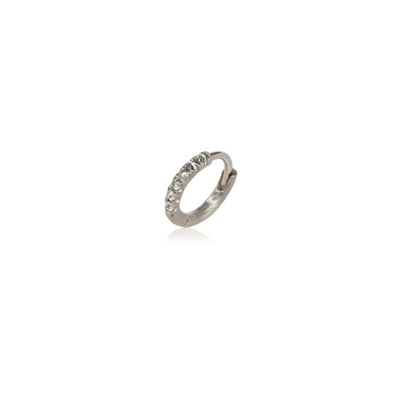 Dusty Diamonds 18ct White Gold Diamond 10mm Hoop