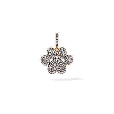18ct Gold Diamond Paw Print Charm