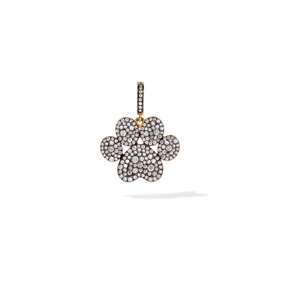 18ct Gold Diamond Paw Print Charm | Annoushka jewelley