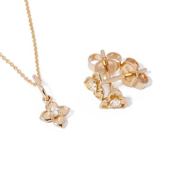 Tokens 14ct Gold Diamond Studs | Annoushka jewelley