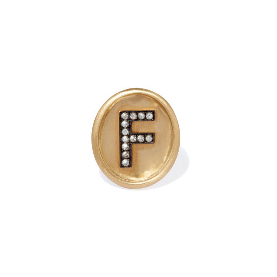 18ct Gold Diamond Initial F Face | Annoushka jewelley