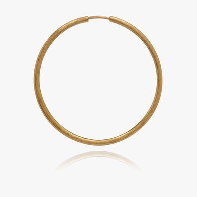 18ct Gold Medium Hoop Earring