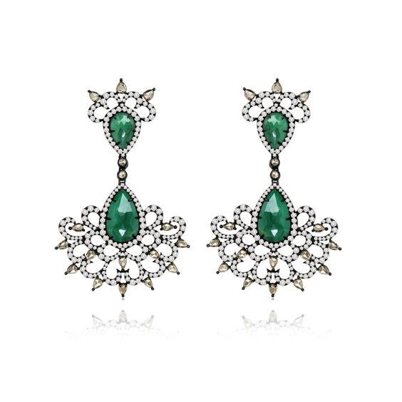 Sutra Emerald Earrings | Annoushka jewelley
