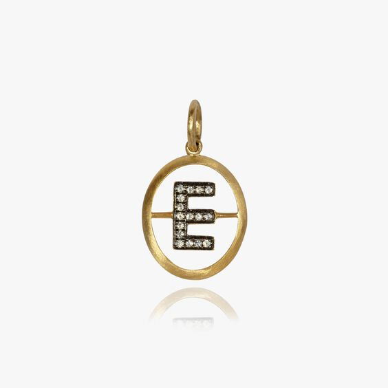 18ct Gold Diamond Initial E Pendant | Annoushka jewelley