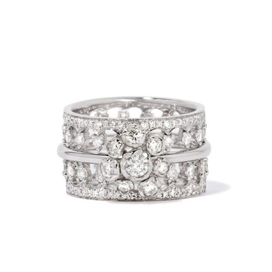 Marguerite 18ct White Gold Large Ring Stack