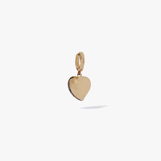 18ct Gold Brown Diamond Vintage Heart Charm | Annoushka jewelley