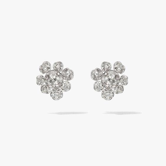 Marguerite 18ct White Gold Diamond Large Stud Earrings | Annoushka jewelley