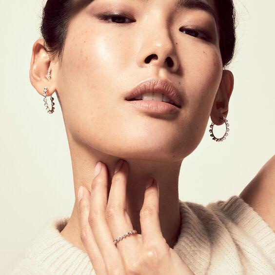 Marguerite WhiteGold Hoop Earrings | Annoushka jewelley