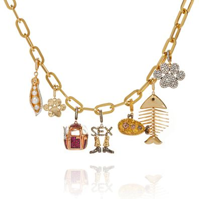 18ct Gold My Life in Seven Charm Necklace