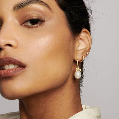 18ct Gold Tulip & Pearl Earrings
