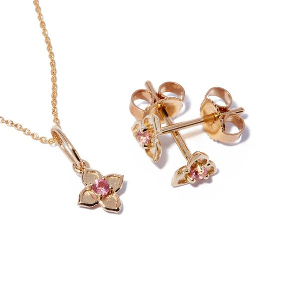 Tokens 14ct Gold Tourmaline Studs | Annoushka jewelley