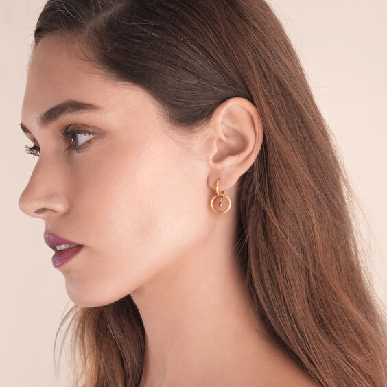 Hoopla 18ct Gold Small Hoop Earrings