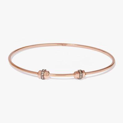 Mythology 18ct Rose Gold & Sapphire Medium/Large Charm Bangle
