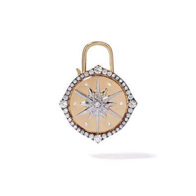 Lovelock 18ct Gold Diamond Star Large Charm
