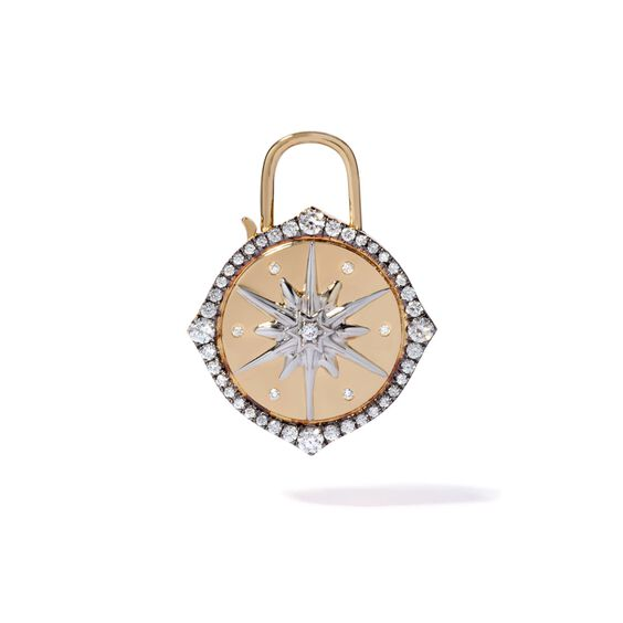 Lovelock 18ct Gold Diamond Star Large Charm | Annoushka jewelley