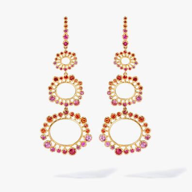 Hidden Reef 18ct Gold Sapphire Earrings