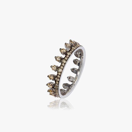 Crown 18ct White Gold Diamond Ring   Annoushka jewelley