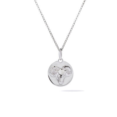 Mythology 18ct White Gold Aries Necklace