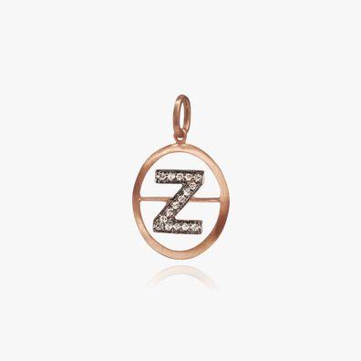 18ct Rose Gold Initial Z Pendant