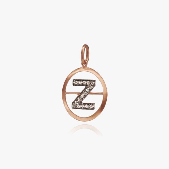 18ct Rose Gold Initial Z Pendant | Annoushka jewelley